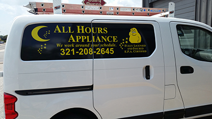 All Hours Appliance Lettering