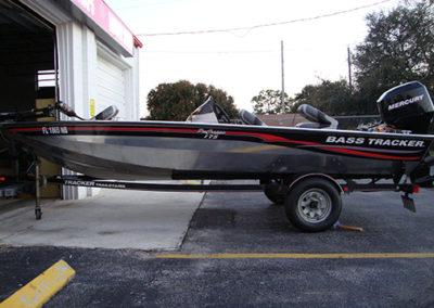 Bass Tracker Boat Striping