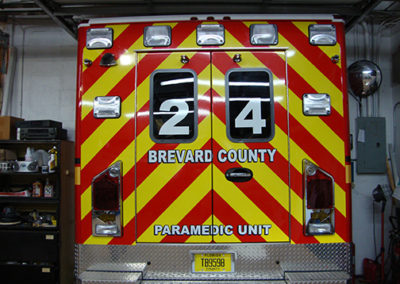 Brevard County Fire Rescue Ambulance Striping Day