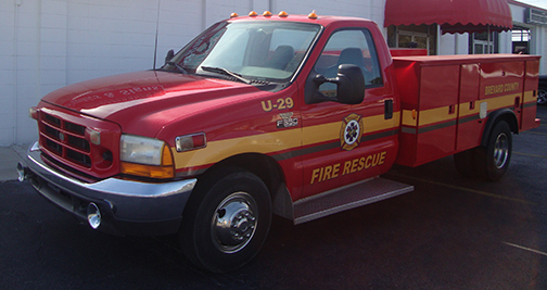 Brevard County Fire Rescue U29 Striping