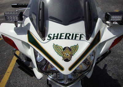 Brevard County Sheriff Bike Front Striping
