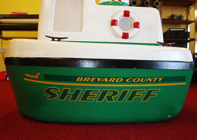 Brevard County Sheriff Bobby The Boat Striping