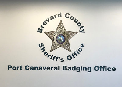 Brevard County Sheriff's Office Badging Office Wall Graphic