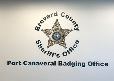 Brevard County Sheriff's Office Badging Office Wall Graphic copy