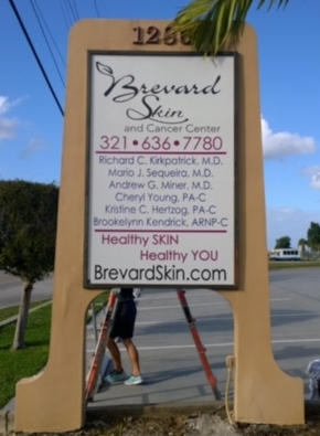 Brevard Skin & Cancer Center Sign Grapgics