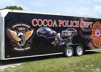 City of Cocoa Police Department Trailer Wrap