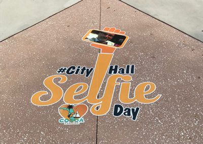 City of Cocoa Selfie Floor Graphic
