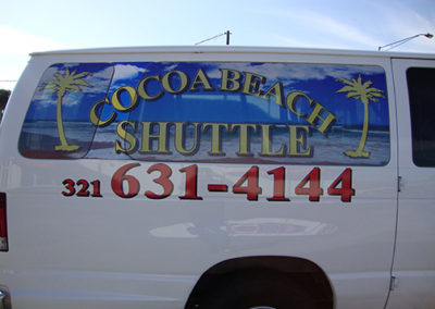 Cocoa Beach Shuttle Window Perf and Decals