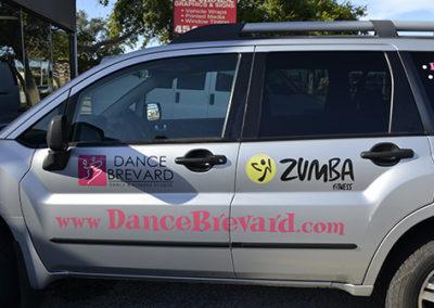 Dance Brevard Vehicle Lettering