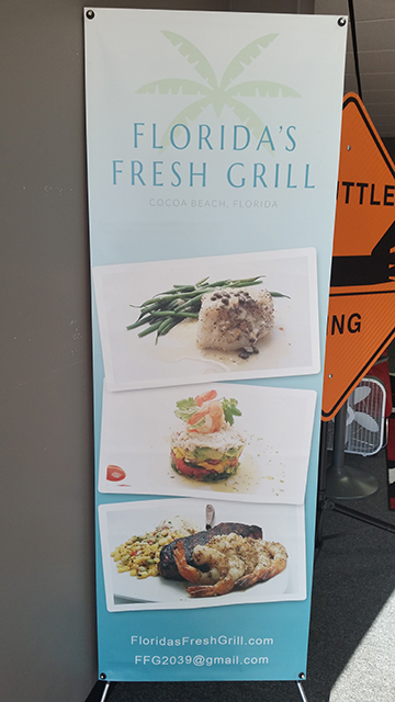 Florida Fresh Grill Banner Stand