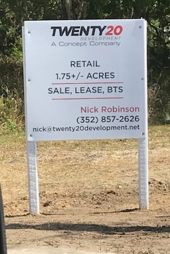 For Lease PVC Sign