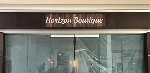 Horizon Boutique PVC Sign