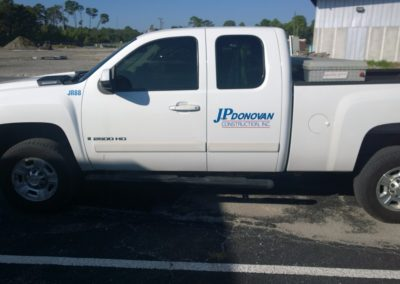 JP Donovan Vehicle Graphic
