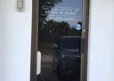 Law Office of Brian Hurd Door Lettering