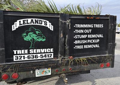Leland's Tree Service Truck Lettering