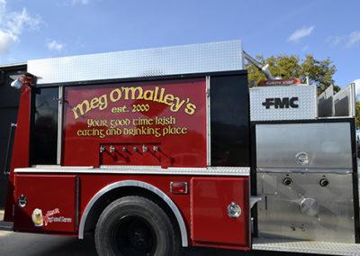 Meg O'Malley's Firetruck Beer Tap Lettering