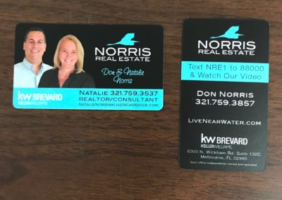 Norris Real Estate Business Card with Rounded Corners on Silk