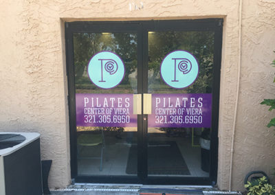 Pilates Center Of Viera Door Graphics