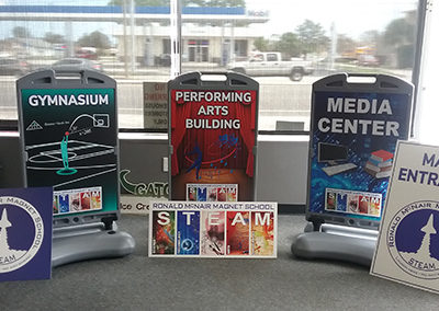Ronald McNair Magnet School Sidewalk Signs and PVC Signs