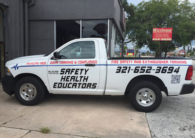 Safety Health Educators Truck Lettering