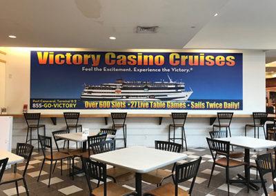 Victory Casino Mall Graphic on Foamboard