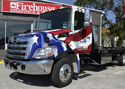 American Flag Tow Truck Wrap
