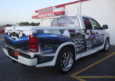 Big Frank's Tire Truck Wrap