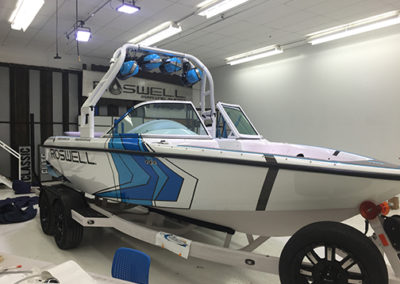 Roswell Blue Boat Wrap
