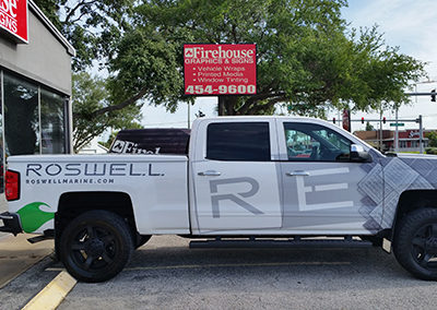 Roswell White Truck Wrap