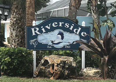 Neighborhood Sign with Cut Out Shape